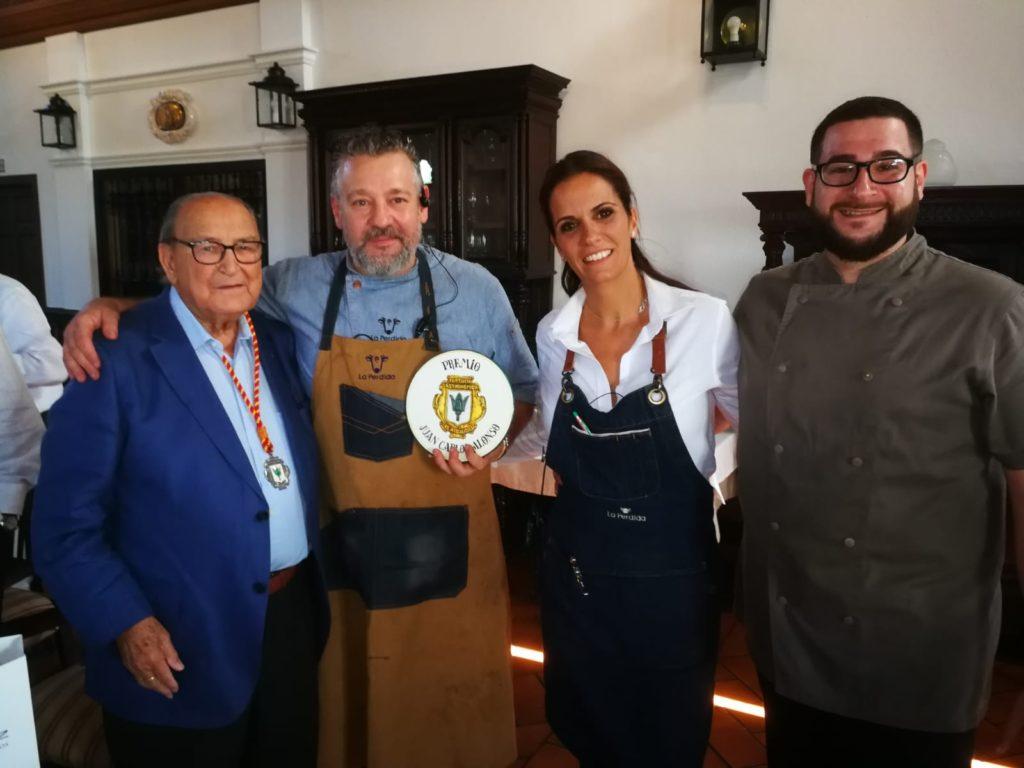 Nuestro chef, Gonzalo Mancera, recibe el premio gastronómico Juan Carlos Alonso
